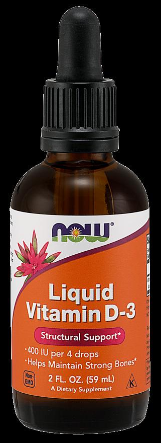Now Foods Vitamin D-3 Liquid 60 ml