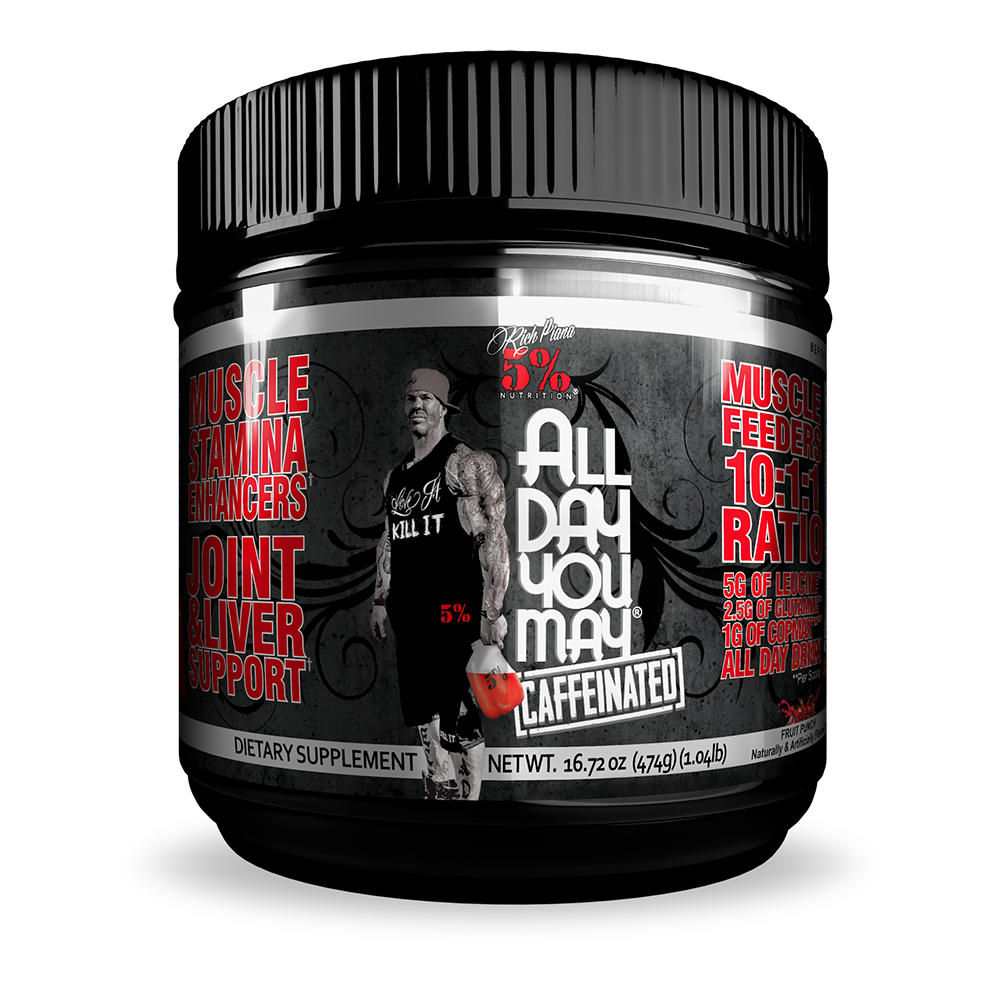 5% Nutrition All Day You May EU Caffeinated 465 gr.